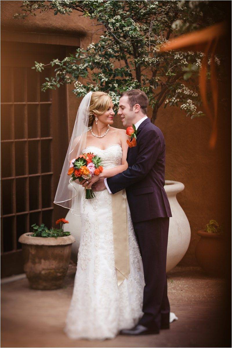 020Blue_Rose_Photography_Santa_Fe_New_Mexico_Wedding_Rain_La_Posada