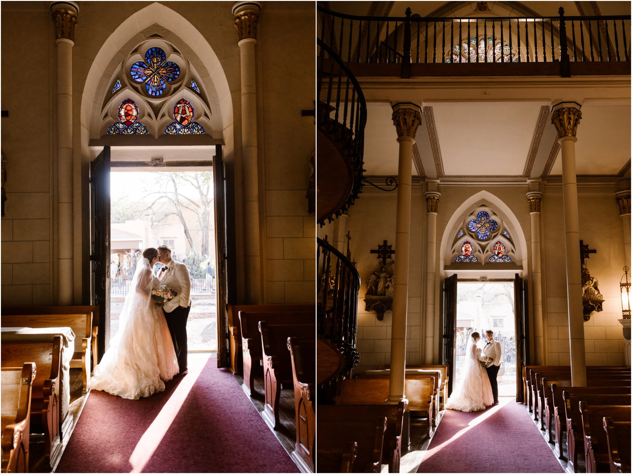 0297Loretto Chapel and Inn and Spa at Loretto Weddings Blue Rose Photography Studios