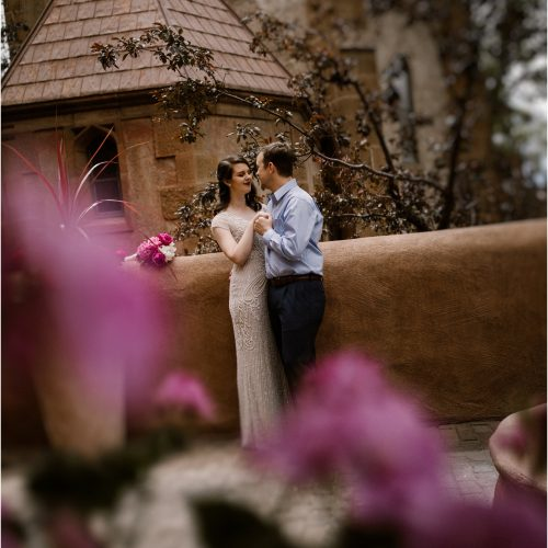 Katherine and Adam, Santa Fe Elopement at Loretto Chapel