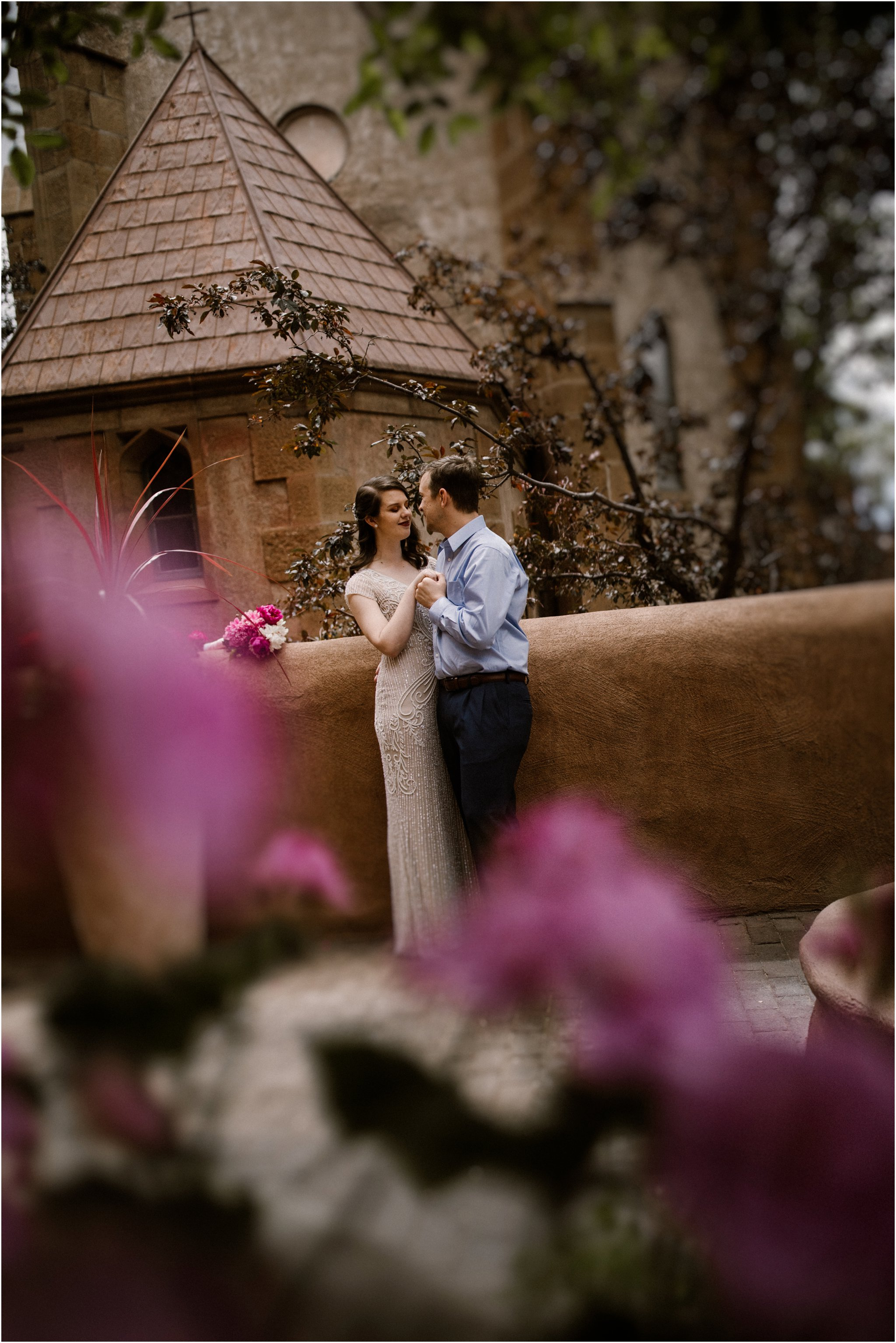0005Loretto Chapel Wedding_Santa Fe New Mexico Wedding Photographer, Blue Rose Wedding Photography