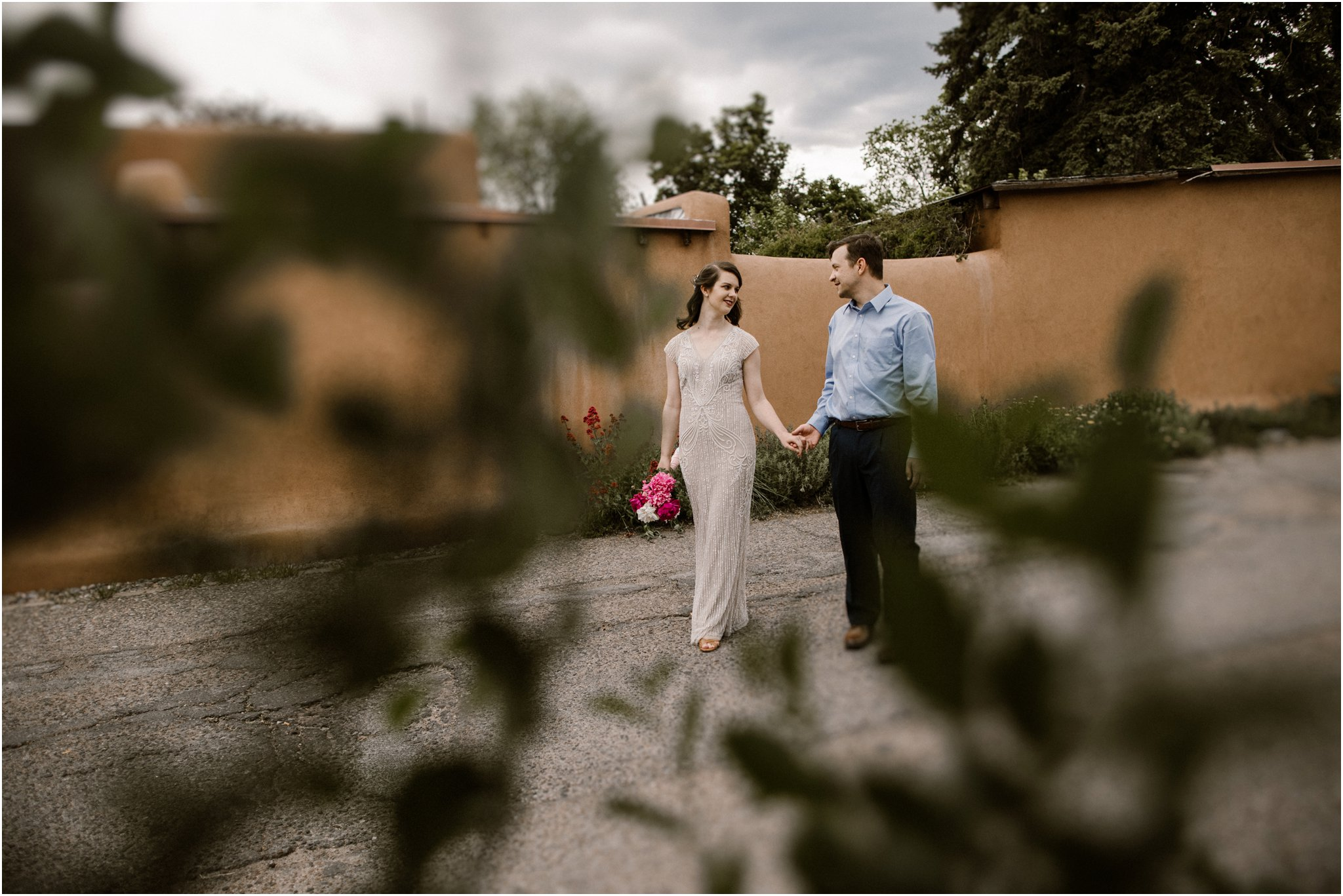 0010Loretto Chapel Wedding_Santa Fe New Mexico Wedding Photographer, Blue Rose Wedding Photography