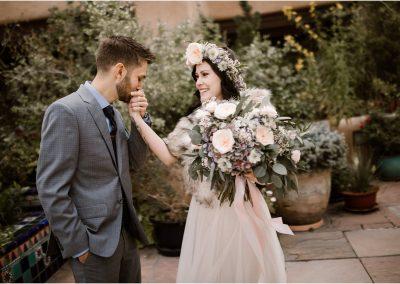 Mattie and Justin at La Fonda, a Santa Fe New Mexico Wedding