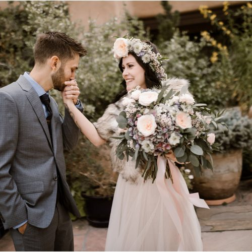 Mattie and Justin at La Fonda, a Santa Fe New Mexico Wedding