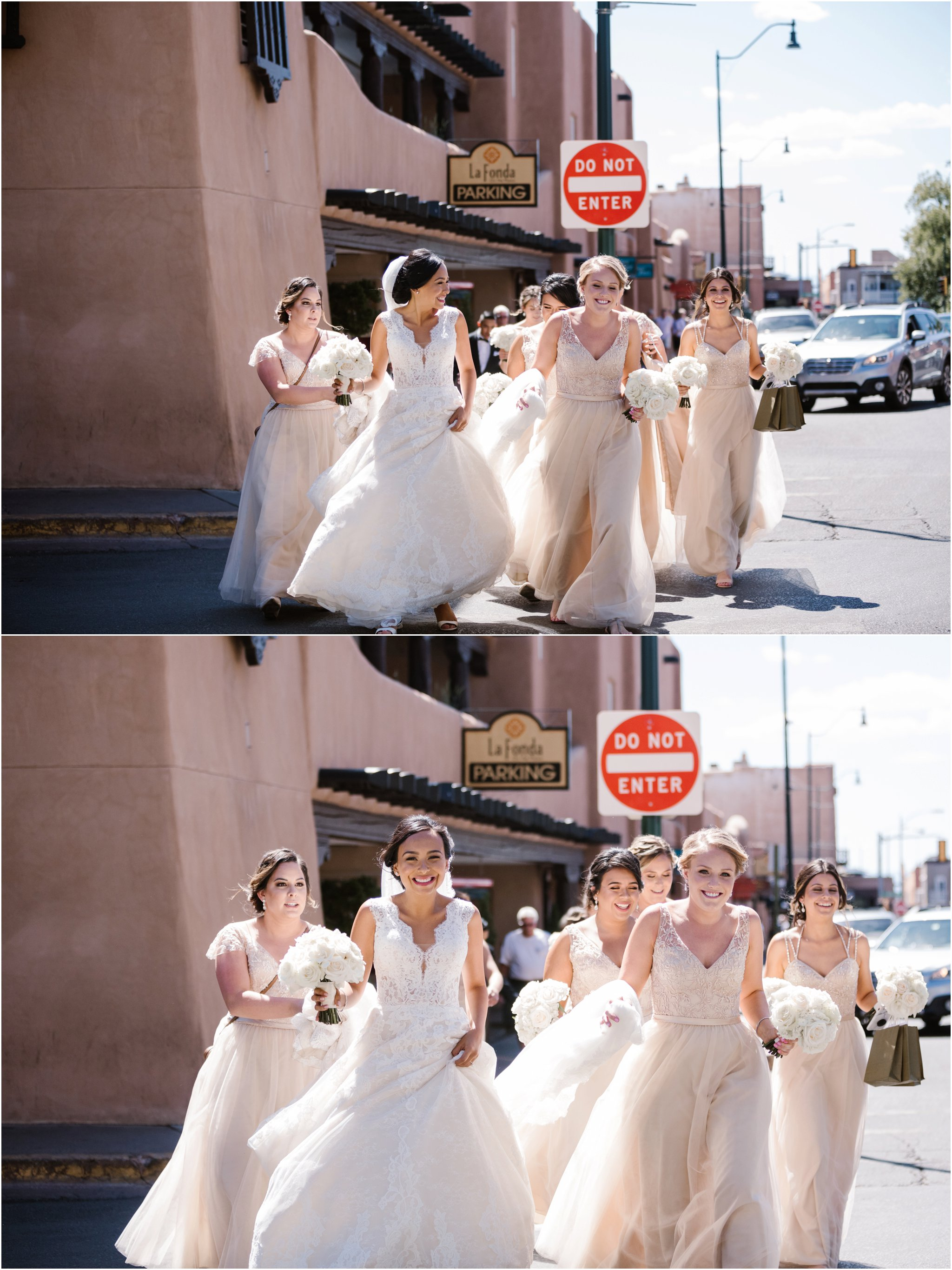Santa Fe Wedding Photographers at La Fonda on the Plaza Hotel