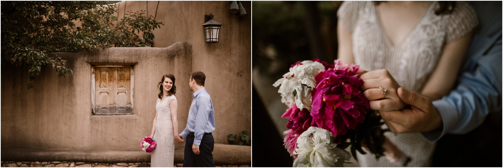 0015Loretto Chapel Wedding_Santa Fe New Mexico Wedding Photographer, Blue Rose Wedding Photography