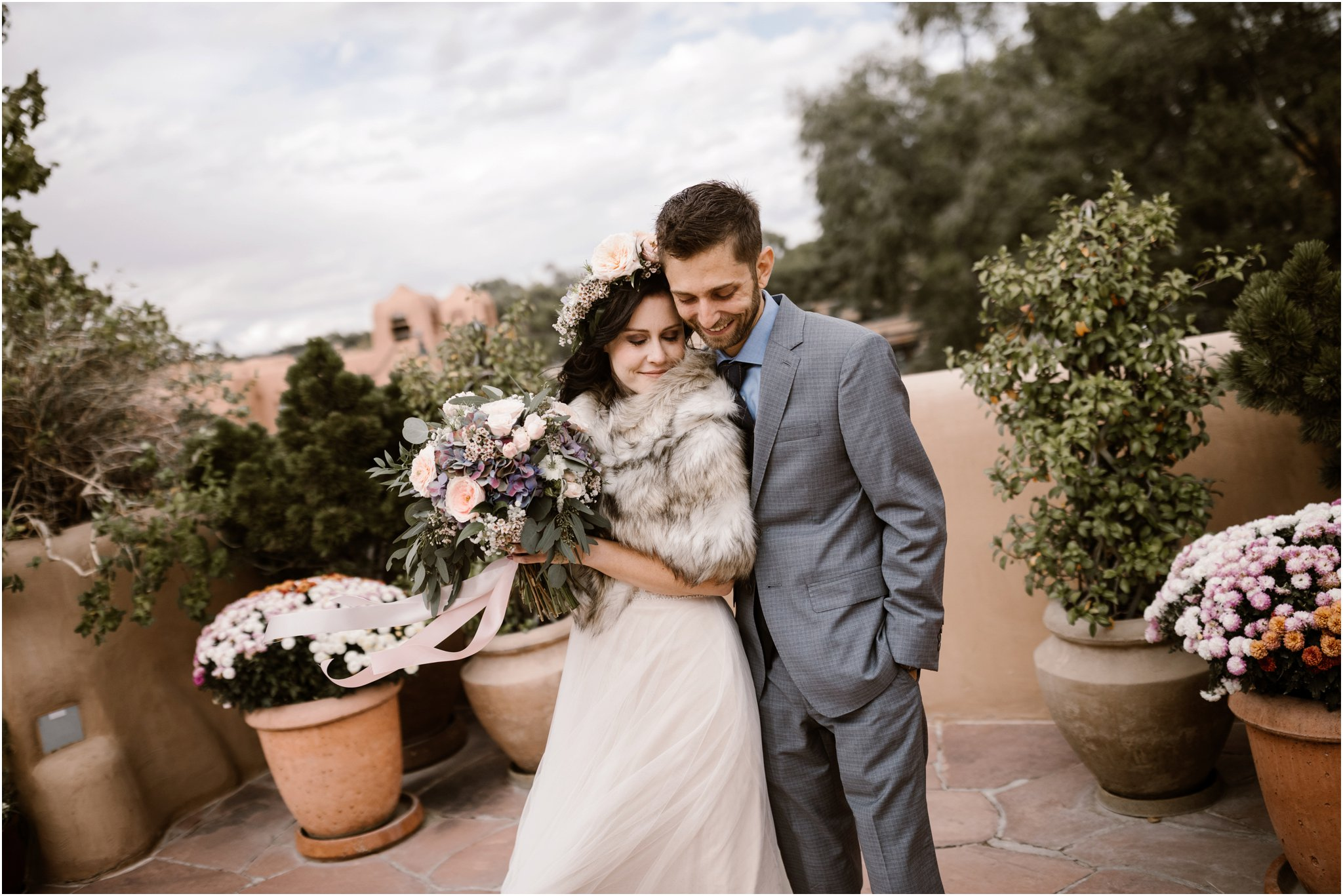Santa Fe Wedding Photography at La Fonda Hotel