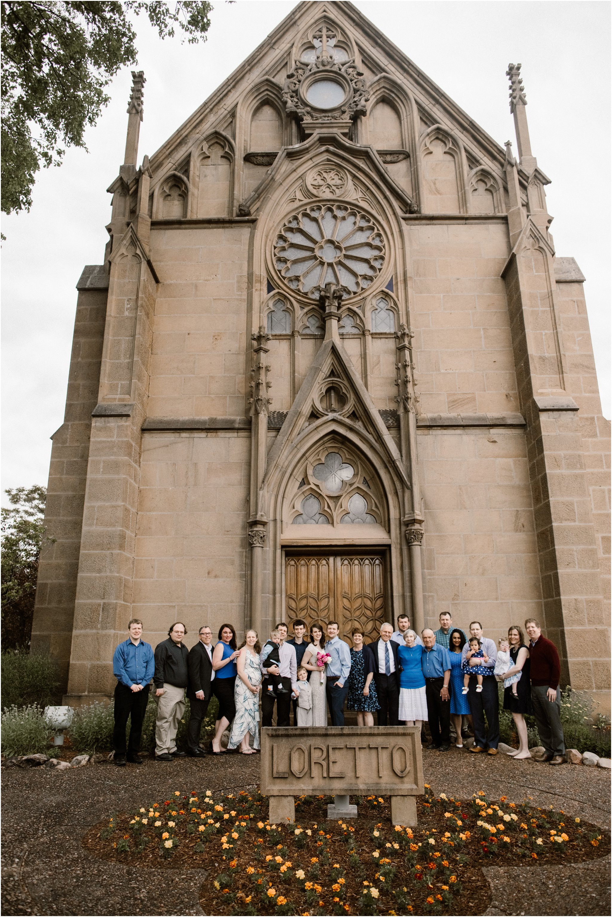 0017Loretto Chapel Wedding_Santa Fe New Mexico Wedding Photographer, Blue Rose Wedding Photography