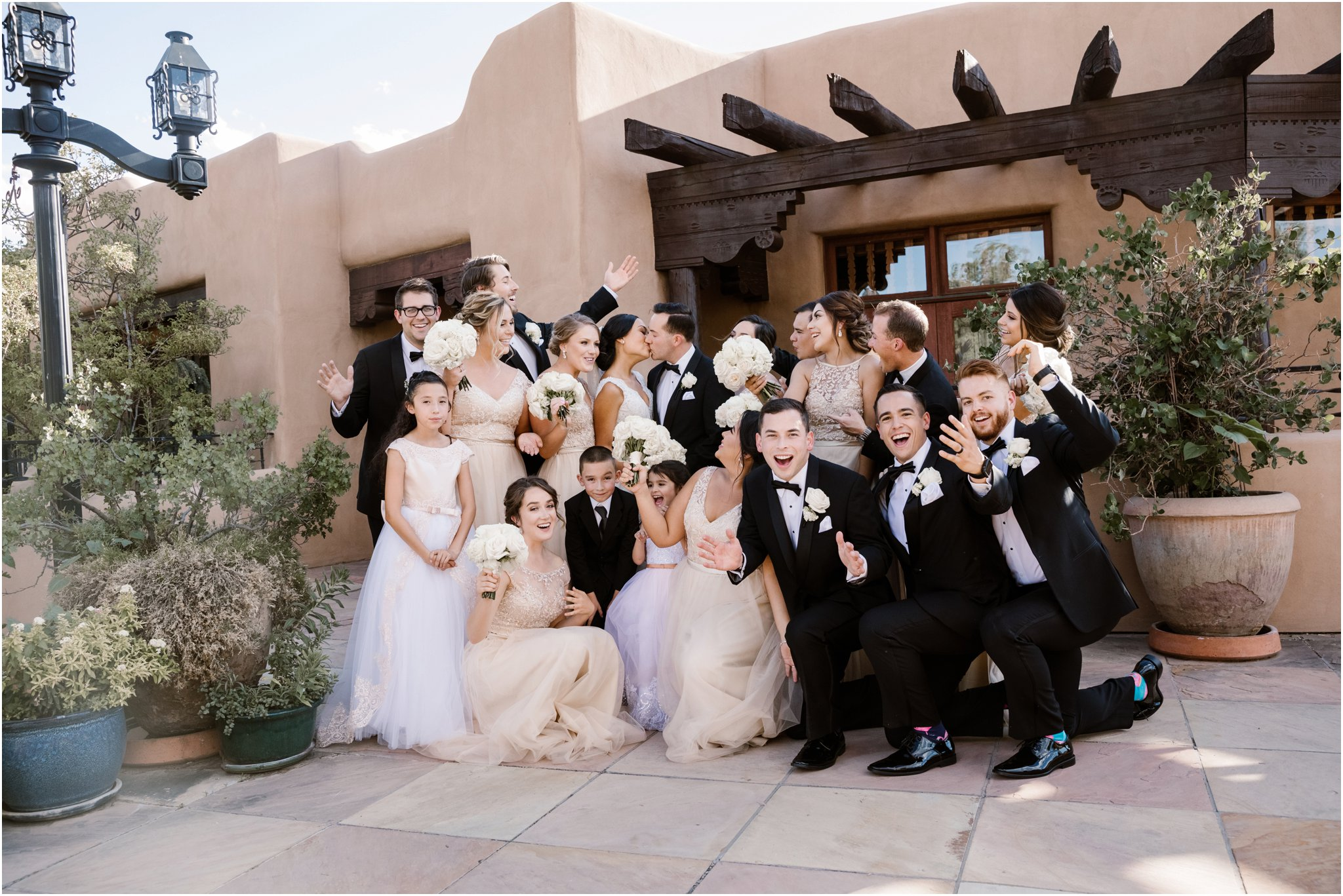 Santa Fe Wedding Photographers, Blue Rose Photography at La Fonda on the Plaza Hotel