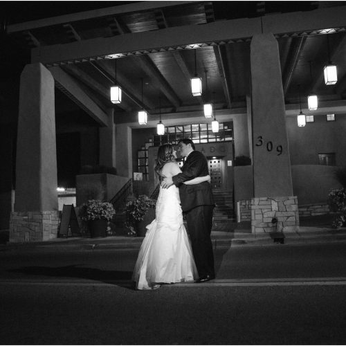 Kathy and Jerry, St. Francis Cathedral/ Eldorado Hotel