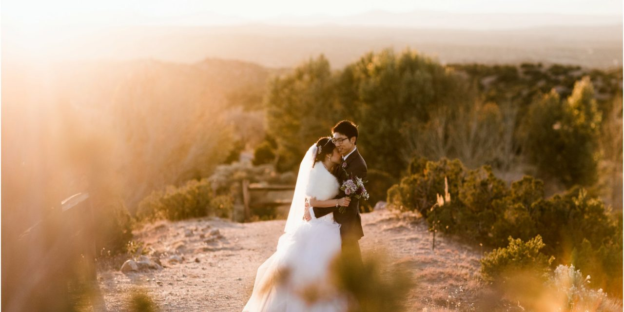 Emily and Wil… Loretto Chapel and Rancho Encantado
