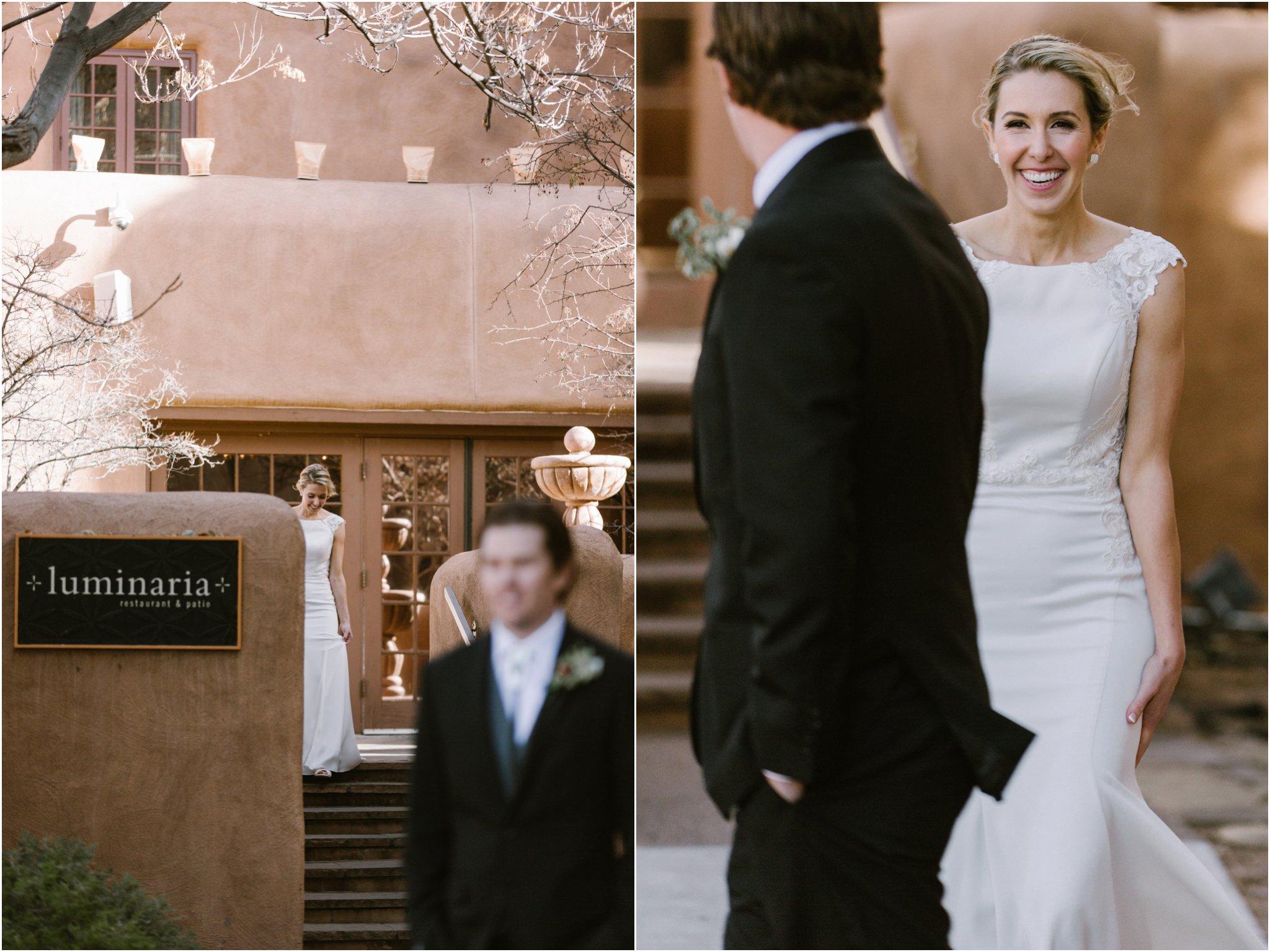 0896Loretto Chapel Wedding, Inn and Spa at Loretto wedding, Santa Fe wedding photographers, blue rose photography