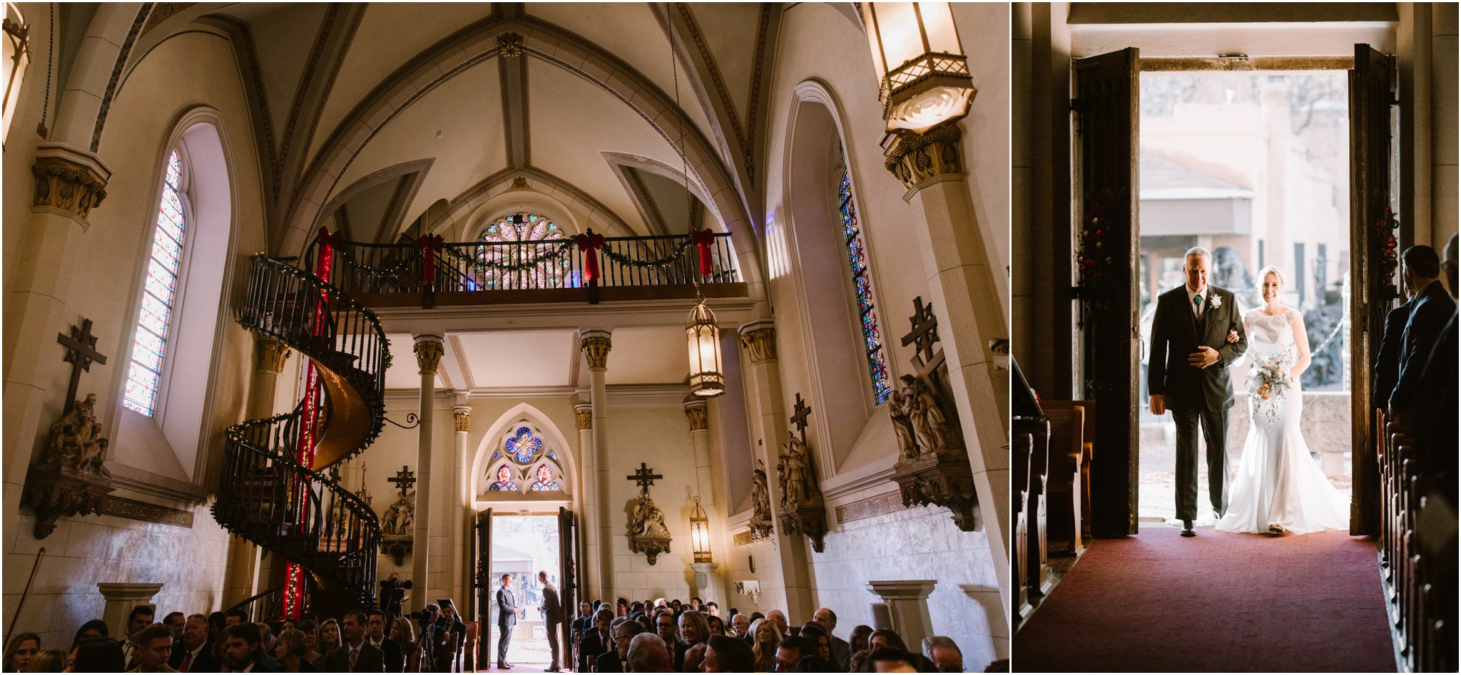 0913Loretto Chapel Wedding, Inn and Spa at Loretto wedding, Santa Fe wedding photographers, blue rose photography